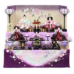 【数量限定】 雛人形 ひな人形 衣裳着 コンパクト収納飾り 三段飾り 五人飾り 【15S312…