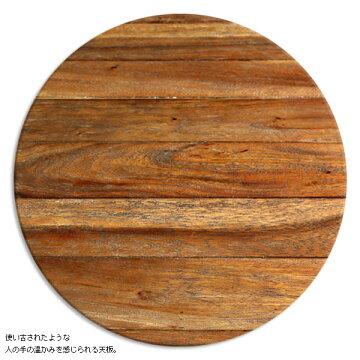 テーブルS【WheelホイールFTT-117】天然木アイアン車輪付の個性的なテーブル【送料無料】