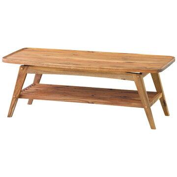 110コーヒーテーブル【VormフォルムTEN-615】110cm幅リビングテーブル天然木アカシアシンプル【送料無料】