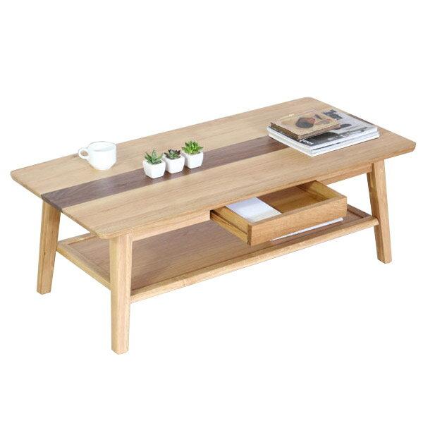 センターテーブル テーブル リビングテーブル ローテーブル 木製テーブル 長方形 無垢材使用 高級感 ウォールナット ホワイトオーク おしゃれ 引出し収納付き 【ルック 115サイズ】 table/115テーブル/ミッドセンチュリー調