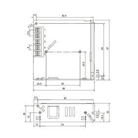 AC/DCスイッチング電源12V出力6.25A(75W)10P03Dec16