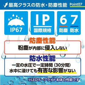 防水防塵性能IP67