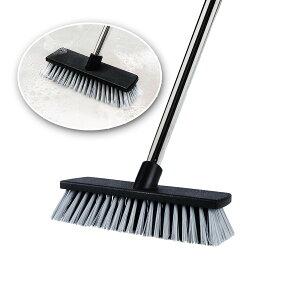 デッキブラシ シャルテン おしゃれ 玄関掃除 タイル バルコニー ウッドデッキ 掃除用品 掃除道具 伸縮タイプ ベランダ・玄関のための床ブラシ 庭園にも適用