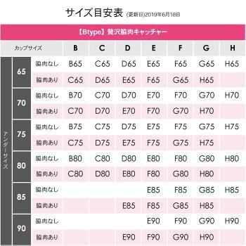 贅沢脇肉キャッチャー・サイズ表