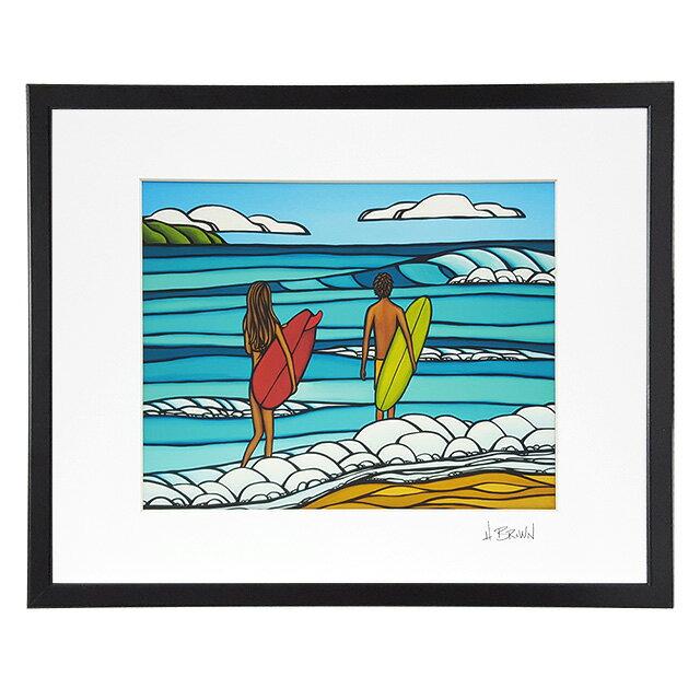 絵画, 油彩画 10HEATHER BROWNART PRINT W50.8H40.6cmLOVE AND SURFLHB9367PLOVE AND SURF