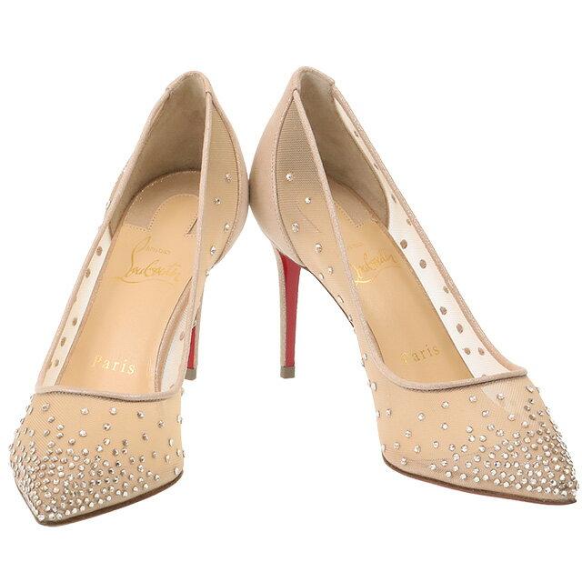 レディース靴, パンプス 5CHRISTIAN LOUBOUTINFOLLIES STRASS 85 RETE8.5cm()1190715 F065VERSION LIGHT SILK
