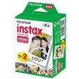 3/30までポイント5倍【出荷は4/上旬になります】 FUJIFILM・フジフィルム インスタントカメラ チェキフィルム 2P instax mini 2P【楽ギフ_包装】