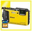 【送料無料】Nicon・ニコン GPS搭載 水深30M防水デジカメ COOLPIX AW130 イエロー【***特別価格***】