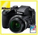 【送料無料】Nikon・ニコン チルト式液晶光学40倍ズームデジカメ COOLPIX B500 ブラック【楽ギフ_包装】【***特別価格***】