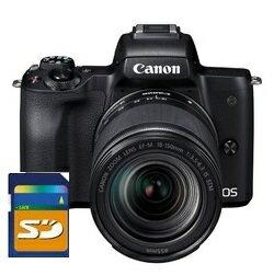 【送料無料】Canon・キヤノン ミラーレスカメラ EOS Kiss M・EF-M18-150 IS STM レンズキット ブラック【楽ギフ_包装】【***特別価格***】