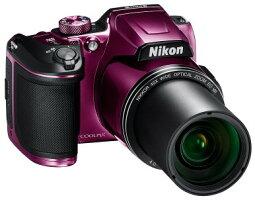 今ならSDカード8GB・カメラケース差し上げます【送料無料】Nikon・ニコンB500PRチルト式液晶光学40倍ズームデジカメCOOLPIXB500プラム【楽ギフ_包装】【***特別価格***】