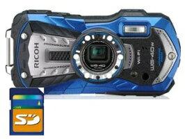【送料無料】リコーRICOH防水耐衝撃防塵耐寒アウトドアデジカメWG-40Wブルー