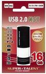 【ゆうパケットで送料無料】【代引き不可】SUPER TALENT・スーパータレント キャップレス ノック式 USB 2.0フラッシュメモリ16GB ST2U16NSTBW【***特別価格***】