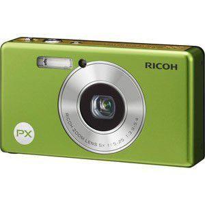 [デジカメ合皮ケース付き] 送料無料 リコー 光学5倍 防水デジタルカメラ RICOH PX グリーン 【after0307】