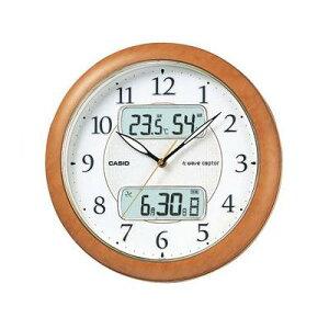 夜でも時刻確認可能な常時点灯ライト機能付送料無料 [CASIO] カシオクロック 壁掛け電波時計 温...