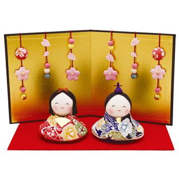 リュウコドウ 1-672 雛人形 おすまし福雛(花屏風付)【お取り寄せ商品】【雛人形/ひな祭り/お雛様】