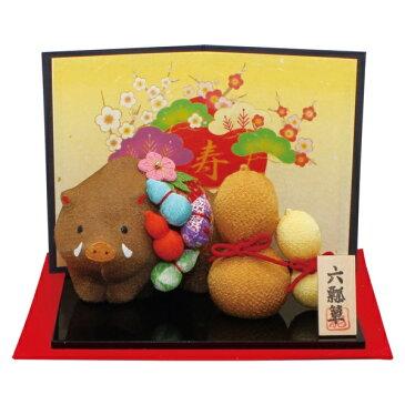 リュウコドウ R-56 六瓢箪亥飾り【お取り寄せ商品】【正月飾り/干支/縁起物/置物】