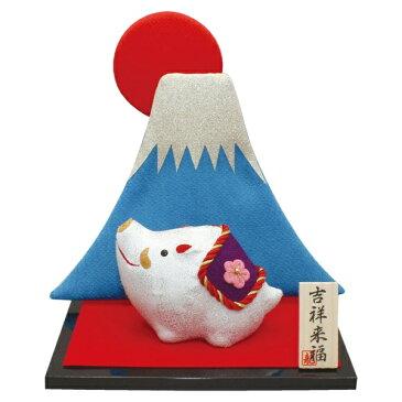 リュウコドウ R-57 金欄 亥 富士山几帳付【お取り寄せ商品】【正月飾り/干支/縁起物/置物】