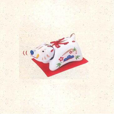 リュウコドウ N-6 首振り招福亥 白 大【お取り寄せ商品】【正月飾り/干支/縁起物/置物】