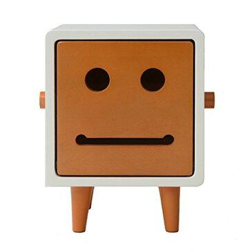 マスティージ デコ マカロンファミリー ティッシュケース 1段 TED 木調(natural) 15×15×20cm