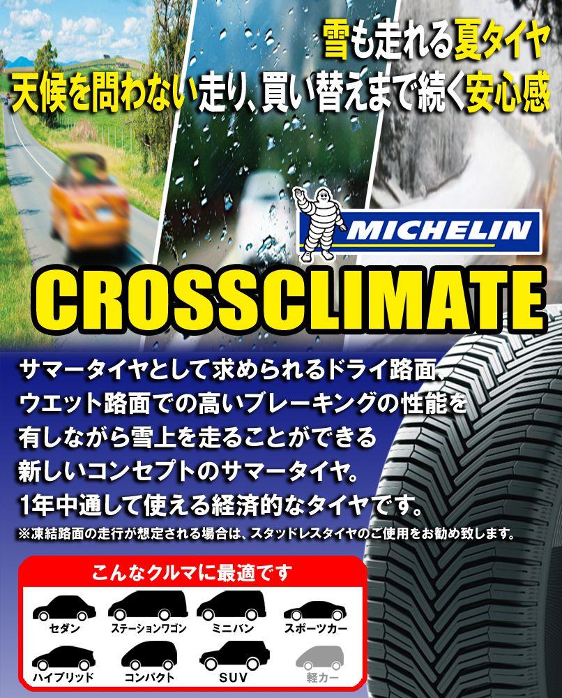 【取付対象】【2本セット】MICHELIN(ミシュラン)CROSSCLIMATE+215/50R1795WXLクロスクライメートプラス17インチ新品2本・正規品サマータイヤ