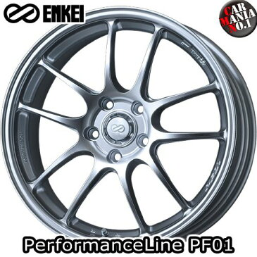 17×7.0J +48 5/100 ENKEI(エンケイ) パフォーマンスライン PF01. カラー:Sparkle Silver 17インチ 5穴 P.C.D100 ホイール新品1本 PerformanceLine