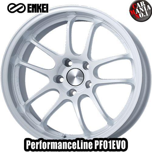 タイヤ・ホイール, ホイール 189.5J 12 5114.3 ENKEI() PF01EVO Pearl White 18 5 P.C.D114.3 1 PerformanceLine