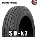 165/55R15 75V TOYO TIRE(トーヨータイヤ) SD-k7 15インチ 新品1本・正規品 サマータイヤ エコタイヤ エスディー・ケーセブン