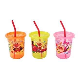 ◆Lec麵包超人吸管茶杯3個裝部分2 3色其他花紋◆《LEC麵包超人吸管茶杯》