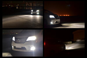 fcl.車用LEDヘッドライト/フォグLEDキット!H1/H3/H7/H8/H11/HB3/HB4点灯時からMAX光量で取付も簡単1年保証付き車用シングルバルブ【LEDH1H3H7H8H11H16HB3HB4LEDバルブLEDキットLEDヘッドライト】【532P16Jul16】