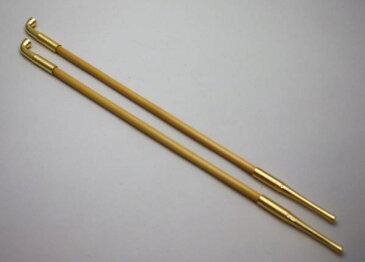 【茶道具・煙草盆・莨盆】 煙管 真鍮 表千家用 長さ:35cm【smtb-KD】