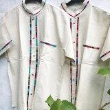 【コットン】ワンポイントメンズコットンシャツ(メンズ)