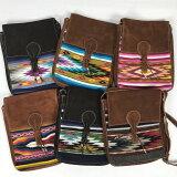【エクアドル製】ネイティブショルダーLサイズ手織りのタペストリーと本革のコンビバッグ(エクアドル先住民手作り)