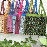 【手作り!】手織りのハンモックバッグトートバッグ幾何学模様7色!(伝統民芸品)「メキシコバッグ・エスニックバッグ」