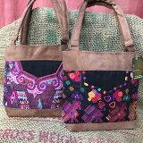 【新商品!】グアテマラ刺繍のミニトートバッグ(手刺繍)