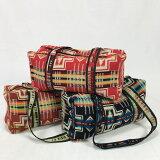 【オルテガ柄】ネイティブ柄エクアドル先住民の手作り布ボストンバッグ(エクアドル製)