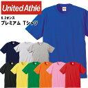 ユナイテッドアスレ メンズカジュアル 6.2オンス プレミアム Tシャツ 無地Tシャツ 9色 綿100% 594201C UnitedAthle