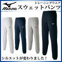 ミズノ スウェットパンツ トレーニングウエア ロング 裾ゴム 32JD7175 MIZUNO