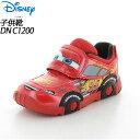 ディズニー 子供靴 スニーカー DN C1200 レッド 12177402 MOONSTAR ディズ...