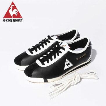 ルコック モンペリエ OG シュ−ズ 靴 人工皮革 フィット感 デザイン シンプル 定番モデル メンズ レディース 送料無料 黒 ブラック 白 ホワイト 18FW le coq sportif QMT7321BW