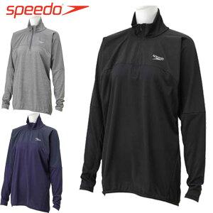 スピード 水泳 トップス ACTIVE HYDハーフジップ speedo SD28F50 スイム ウエア トップス トレーニング プール 海 一般用 ユニセックス メンズ レディース