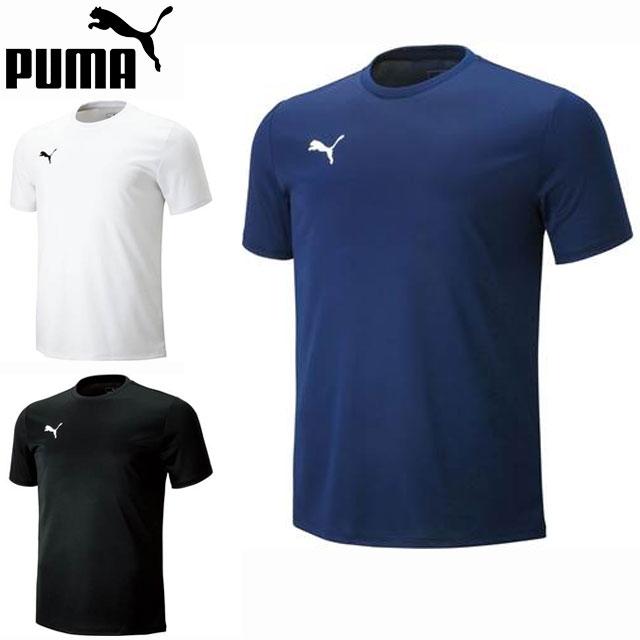 ネコポス プーマ 半袖シャツ メンズ SS Tシャツ 656335 PUMA トレーニングウエア ドライニット素材 吸汗速乾 ワンポイントロゴ