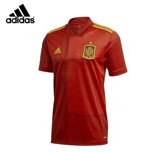 ネコポス アディダス サッカー レプリカシャツ メンズ ホーム ユニフォーム スペイン代表 KCM79 adidas レギュラーフィット リブ仕上げ Vネック 半袖