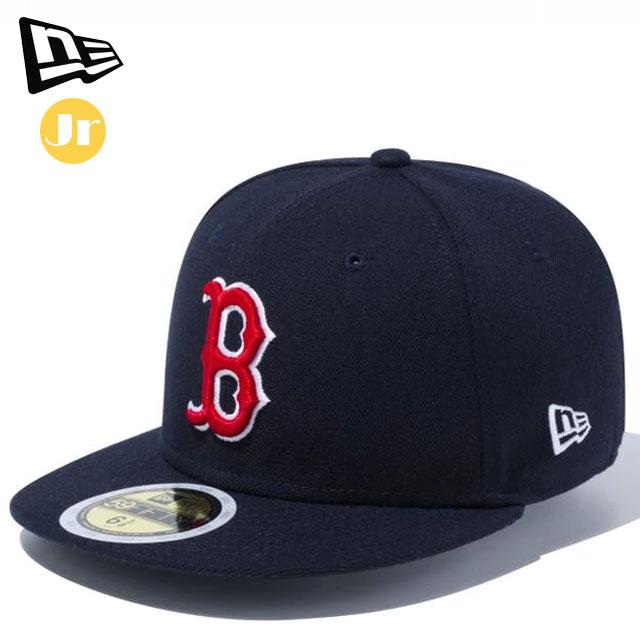ニューエラ カジュアル キャップ Kid's 59FIFTY MLBオンフィールド ボストン・レッドソックス ゲーム NEW ERA 11449306 帽子 キッズ ジュニア 試合で着用するものと同様の素材画像