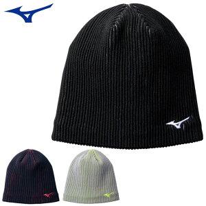 ミズノ ウエア アクセサリー 帽子 メンズ レディース ブレスサーモ ニットキャップ MIZUNO 32JW0603 ニット帽 蛍光カラー 防寒アイテム 吸湿発熱素材