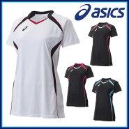 asics(アシックス)バレーボールXW1317W'SゲームシャツHS半袖吸汗速乾UVケアサイバードライ【レディース】