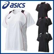 asics(アシックス)バレーボールウェアシャツ・インナーXW6418W'SプラシャツHS半袖シャツ吸汗速乾UVケアサイバードライ【レディース】
