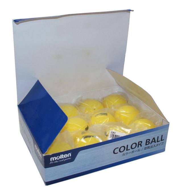 ☆◎【訳ありアウトレット】モルテン カラーボール (空気注入タイプ) 12個セット CBY molten ビニール製 キャッチボール 野球