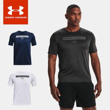 ネコポス アンダーアーマー メンズ Tシャツ 半袖 丸首 UA トレーニング ベント グラフィック 1 ショートスリーブ ルーズ 吸汗速乾 トレーニング 運動 1365216