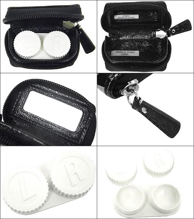 コーチ COACH小物(コンタクト レンズ ケース)F61877 ブラック×ホワイト シグネチャー コン…